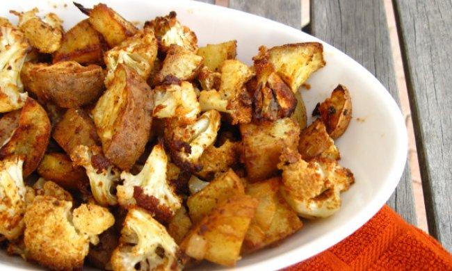 Coliflor con patatas
