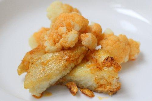 Coliflor con bacalao